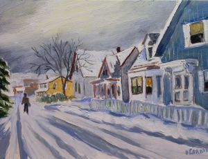 Along Tremont St. in the Snow