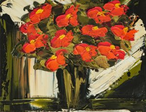 Contemporary Red Poppies