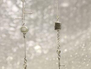 Large Link Earrings