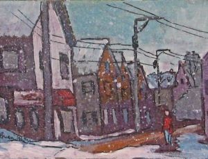 Petit Noir #10 - Standish & Commerical Streets in the Snow