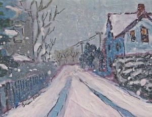 Petit Noir #11  - Cottage Street in a Storm