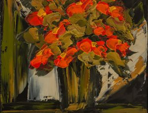 Red Poppies Contemporary