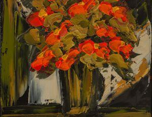 Red Poppies, Window Light