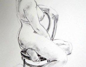 Nude Seated on Thonet Chair