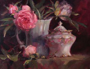 Antique Porcelain & Peonies