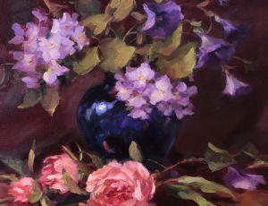 Peonies, Hydrangea & Morning Glories