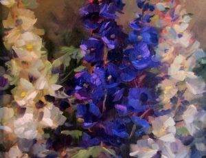 Purple & White Delphiniums