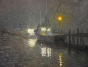 Fishing Boat, Misty Night