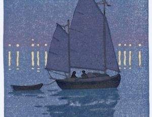 Canoe Yawl at Night (Homage to Yoshida)