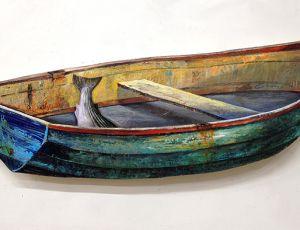 Striper in a Green Boat
