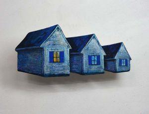 Tiny Moonlit Cottage Trio