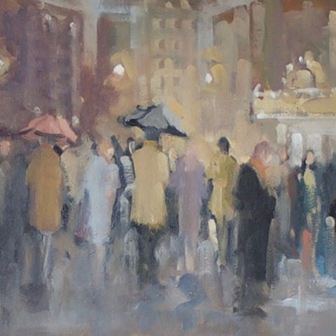 Broadway Drizzle by James Kubiatowicz Almost poetic in style thishellip