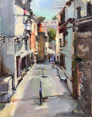 """Artistic Impressionism & Expressive Textures"" Double Artistic Pairing: Michele Usibelli, Donna Mahan, Nancy Phillips & Susan Boyle"