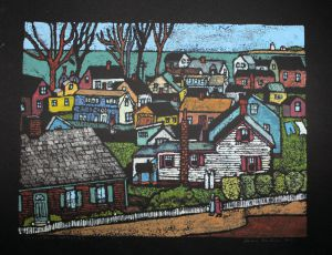 Provincetown Rooftops 16x20 black#2_preview