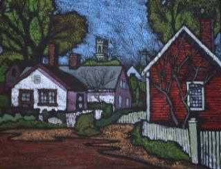 This lovely black line woodcut Old Provincetown 1 by Brianhellip