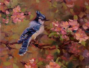 Blue Jay & Blossoms