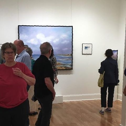 Early viewers at last nights opening of our new finearthellip