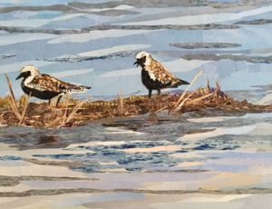 Black Bellied Plovers by Carol Flax