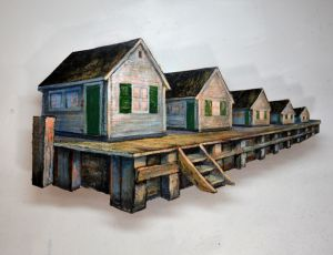 Row of Cottages by Timothy Basil Ering *SOLD*