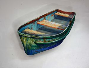 Painterly Green Boat by Timothy Basil Ering