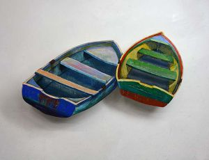 Two Dinghies Side by Side by Timothy Basil Ering