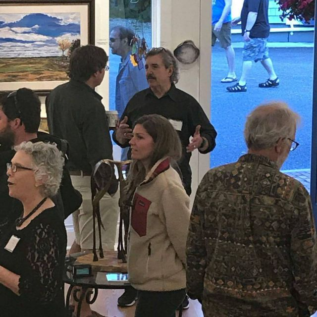It was a wonderful opening reception for timothybasilering and carolflaxhellip