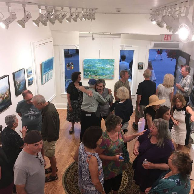 Wonderful artist reception last night for Brenda Silva and Tamarahellip