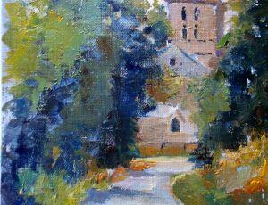 Angeac Church by Joseph Palmerio