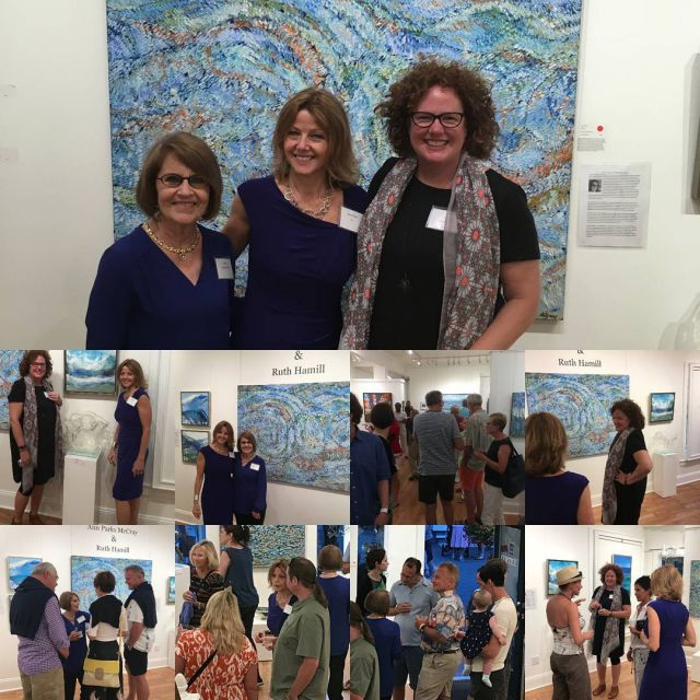 Last evening artopening reception for Ann Parks McCray and Ruthhellip
