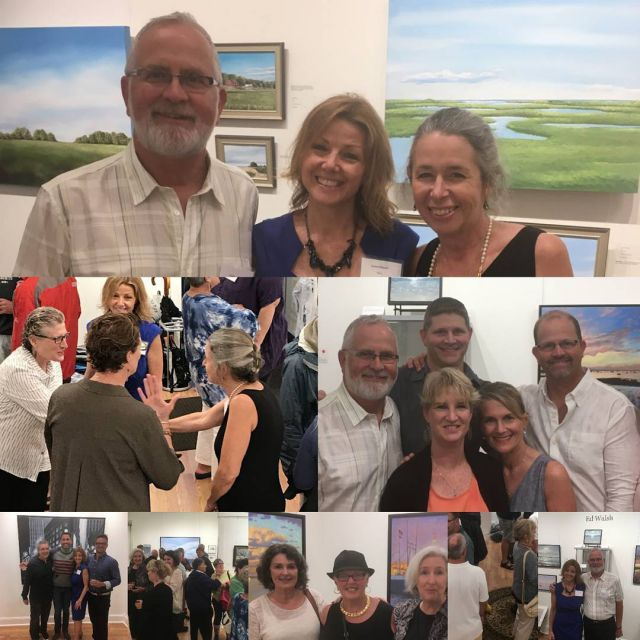 Rainy but successful opening reception for Ed Walsh and Mimihellip