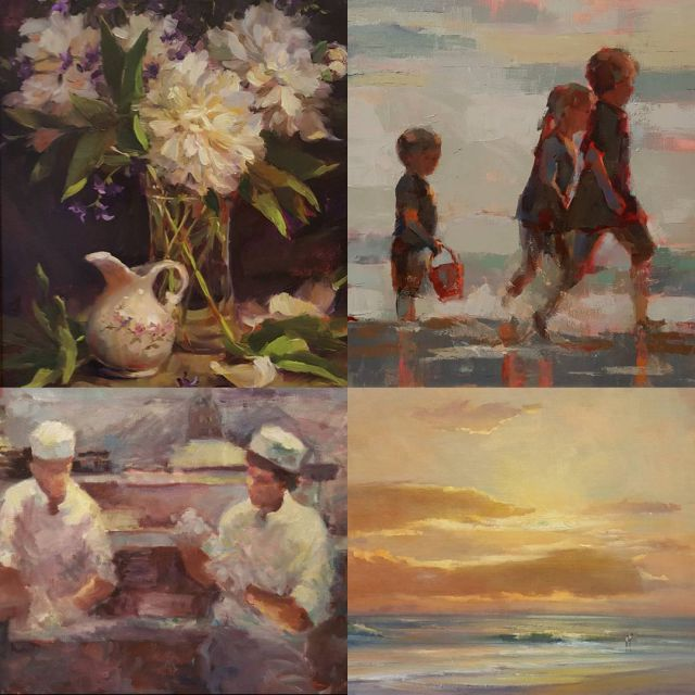 Four incredible oil paintings available by our Cortile artists Kathyhellip