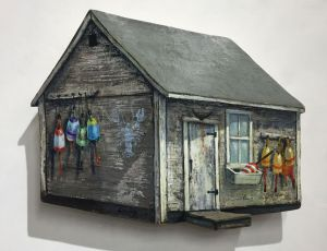 Shack with Lobster Buoys  Tuna Tail by Timothy Ering