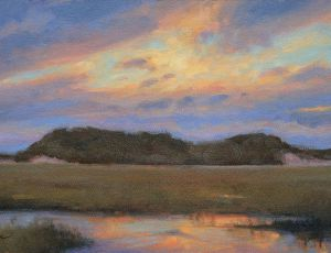 Sunset Over Dunes by James Coe