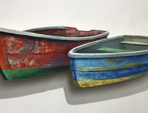 Two Boats Beached Side by Side by Timothy Ering