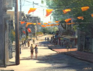 Summer on Commercial Street by Mark Shasha