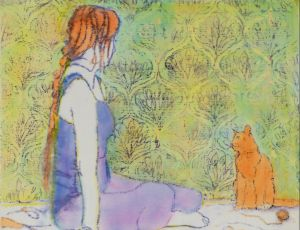 Bella & her Cat by Susan K. Boyle