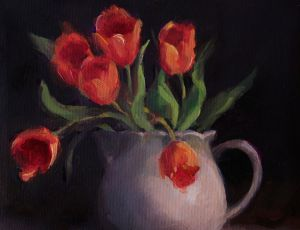 Red-Orange Tulips