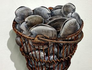 Basket of Quahogs--SOLD