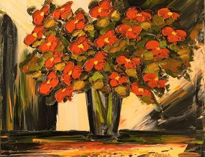 Contemporary Red Poppies-36x36 (2)