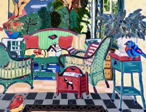 Jodi & Sam Gaze at the Birdhouse by Nan Hass Feldman