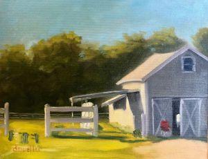 Barn Glow by Debbie Mueller