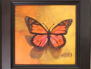 Orange Butterfly by Debra Kierce