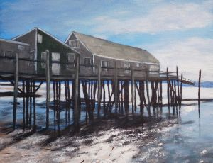 Autumn Light at Captain Jack's by Ed Walsh SOLD
