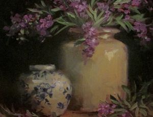 Russian Sage & Ginger Jar by Sandra Dunn