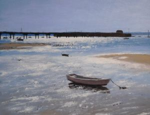 Reflections Waiting for the Tide by Ed Walsh SOLD