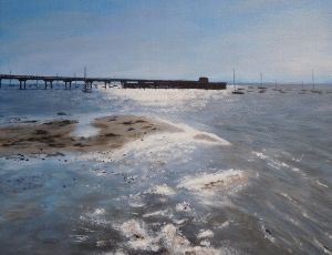 Tidal Flats Reflections by Ed Walsh SOLD