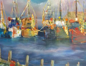 Colors of the Sea by Brenda Silva  SOLD