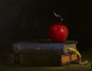 Red Apple, Books & Ribbon