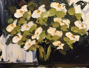 Contemporary White Lilies