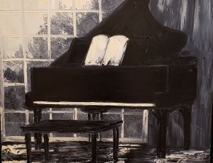 Music Series Piano Room in Morning Light